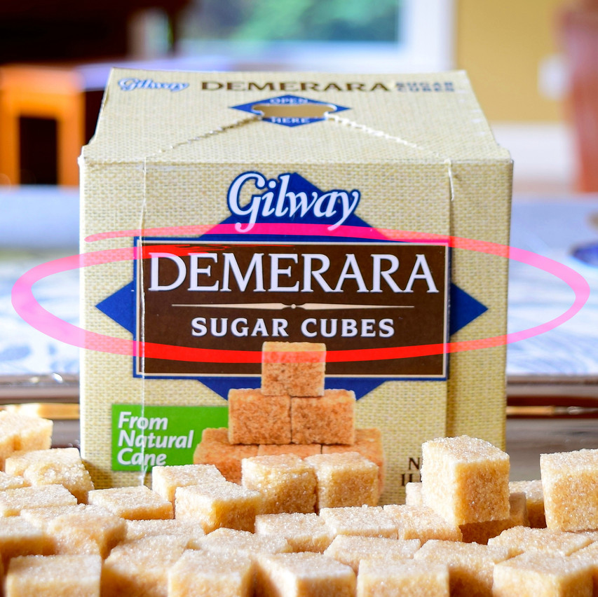 Demerara sugar cubes are produced from a raw sugar that is moist with water and then compressed or molded. Contain over 95 percent sucrose.