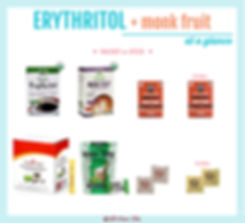 Monk Fruit Packets with Erythritol