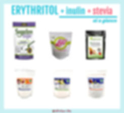 Erythritol Blend with Inulin and Stevia