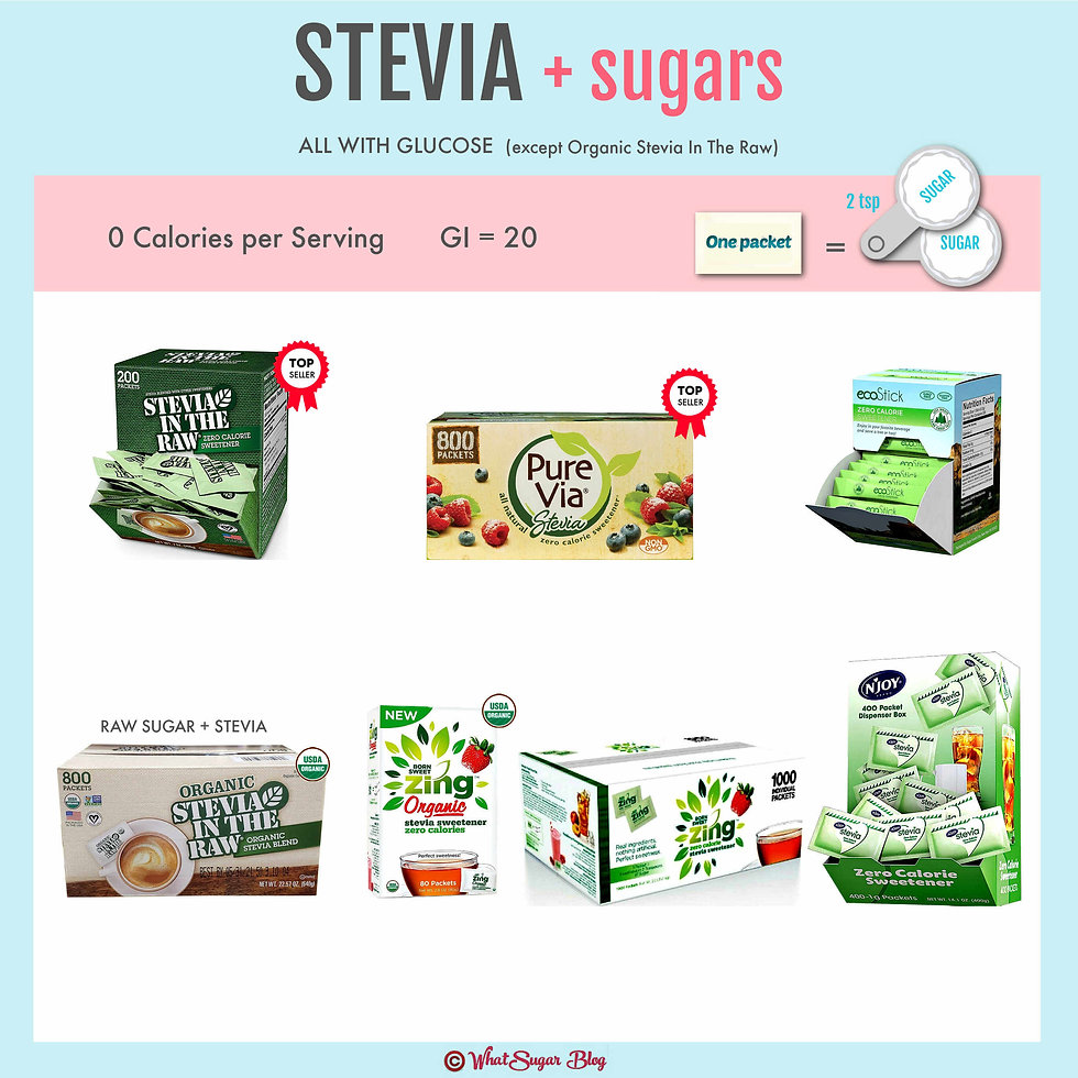 Stevia with Glucose _ Individual Packets
