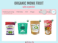 Best organic monk fruit sweetener