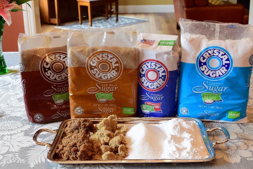 Crystal Sugar is a brand of cane sugar mixed with beet sugar.