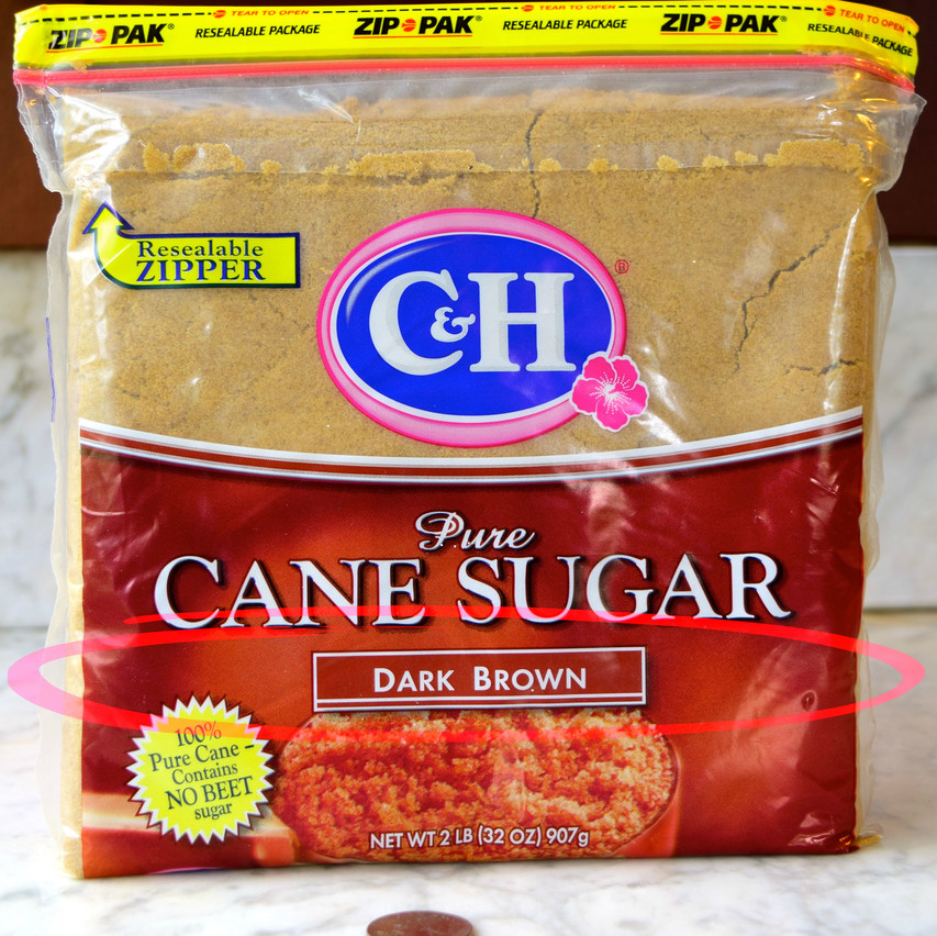Dark Brown Sugar vs Light Brown Sugar | The brown sugars we often find in grocery stores are not naturally brown, they are refined sugars from cane or beet. Dark brown sugar contains 6 to 8 percent molasses resulting in a richer color and flavor. Has 93-98 percent sugars being mainly sucrose with 1.5-5 percent invert sugar (glucose plus fructose).