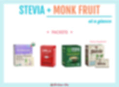 Stevia with Monk Fruit Packets