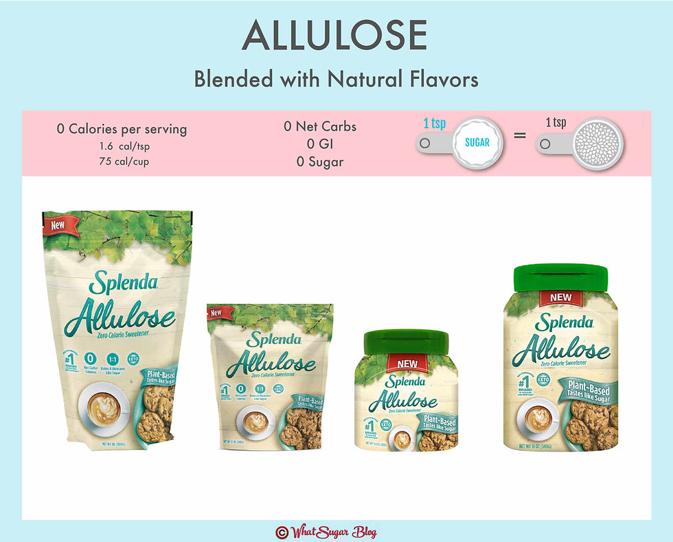 Allulose with Natural Flavor One-for-One