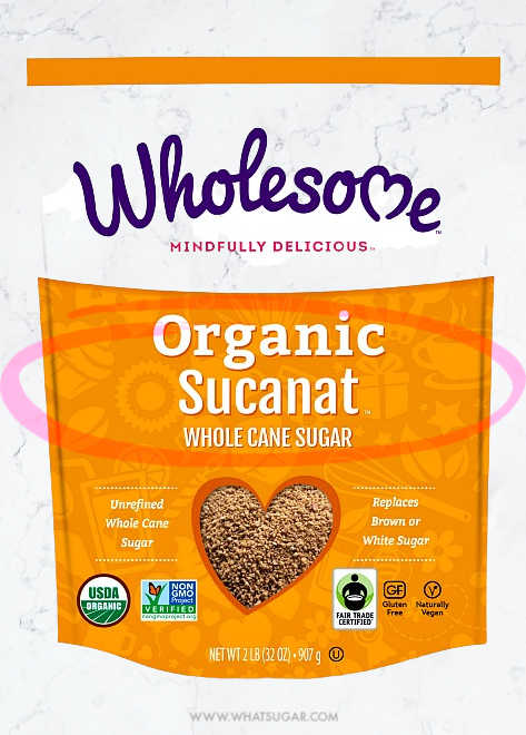 What is Sucanat | Sucanat, which stands for SUgar CAne NATural, is not a traditional brown sugar, but it is an unrefined cane sugar produced by a more sophisticated refining process. The cane stalks are crushed to extract the juice, which is then clarified and heated in large vats. Hand paddling cools and dries the syrup by a drying process developed by the Swiss company Pronatec. It does not clump, cake or harden as regular brown sugars do. Is a registered trademark of Wholesome Sweeteners Inc, from Texas.