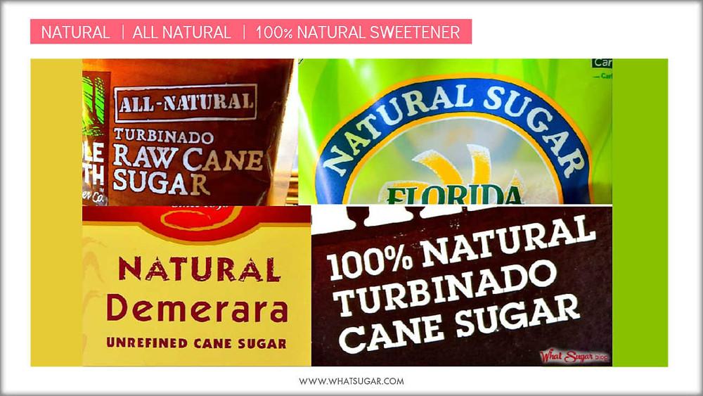 Natural versus 100% Natural Sweetener |  Are natural and all natural the same