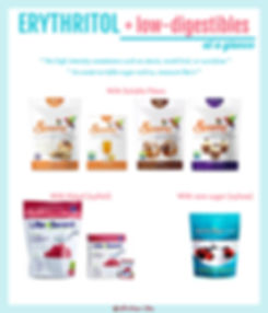 Erythritol Blend with Low-Digestible Carbohydrates