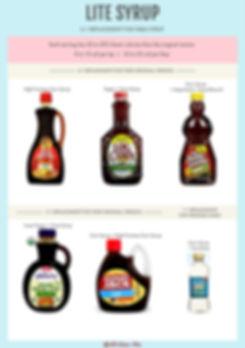Compare Lite Syrups