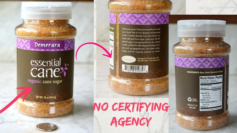 Organic Sugar Certifying Agency