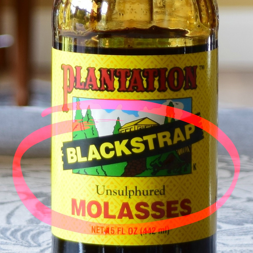 Molasses versus Blackstrap Molasses | Blackstrap Molasses is the dark syrup washed off from around the sugar (sucrose) crystals toward the production of raw sugars in a Sugar Mill. It may also be produced  from the THIRD (last) boiling toward the production of white sugar in a Sugar Refinery. Contains around 32 to 45 percent sucrose, and 20 percent invert sugar.