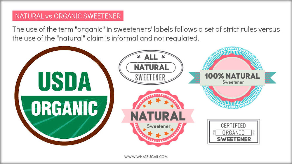 What are the differences between Natural and Organic Sweeteners | Natural versus Organic Sugar | Natural versus Organic Syrup