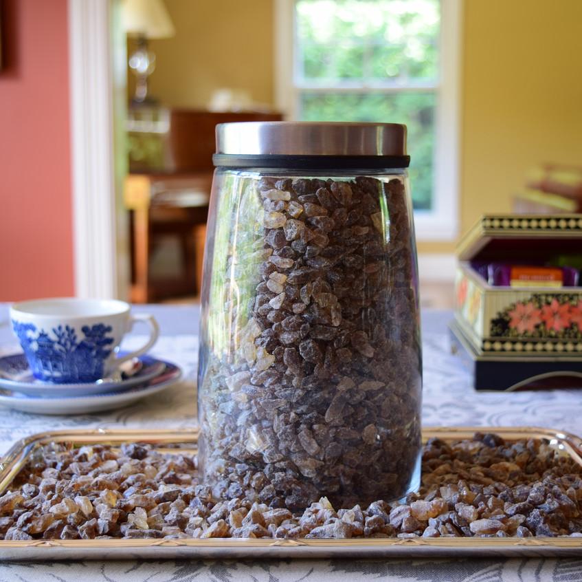 Rock sugar made from beets
