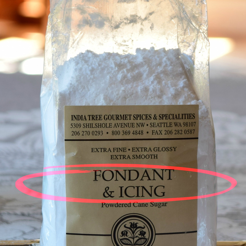 What is fondant sugar | What is Icing Sugar | Fondant sugar typically has crystal sizes smaller than 0.02mm. It is also known as icing sugar. As opposed to other white sugars which contain over 99.9 percent sucrose, fondant and powdered sugars have 97 percent sucrose and an additional ingredient - often corn starch. Due to its fineness nature, starch is added to this sugar to absorb moisture and let it free-flowing.