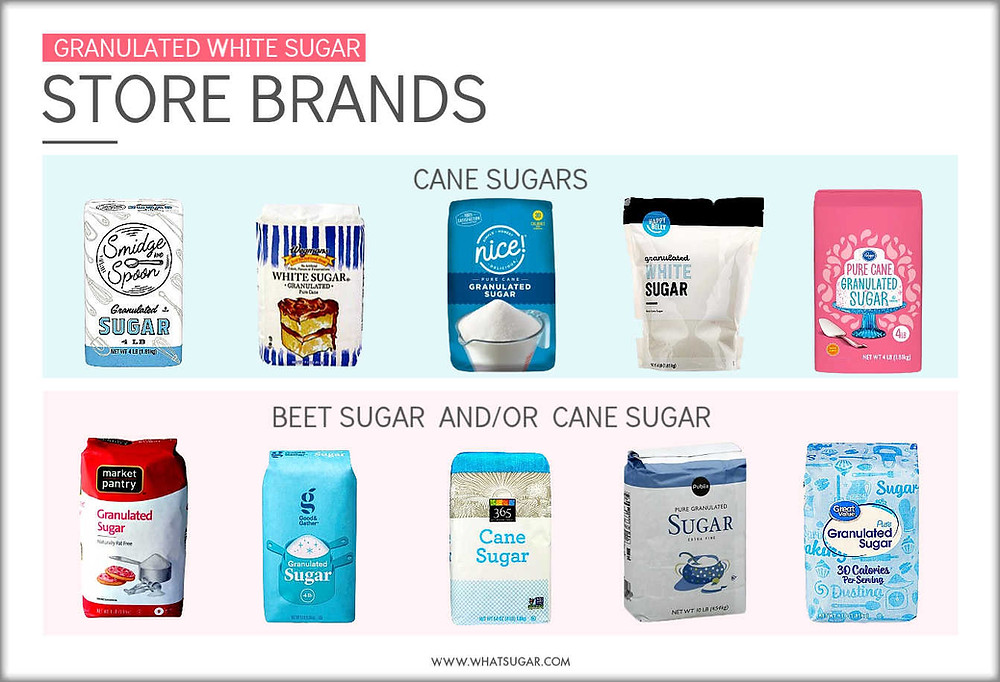 Top Store Brands of Refined White Sugar
