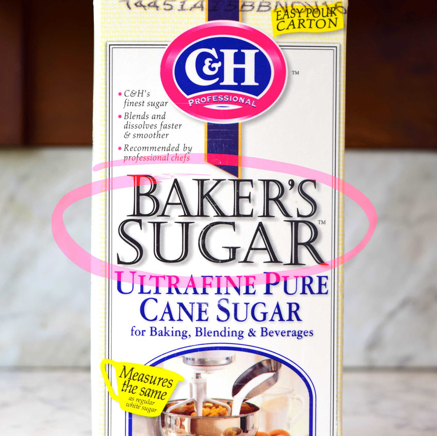 What is Baker's Sugar | Baker's Sugar is a trademarket name owned by C&H Sugars. It is a refined sugar from cane that typically has crystal sizes from 0.1 to 0.2mm. Contains 99.95 percent sucrose. Also called as ultrafine, baker's special sugar, or caster sugar.