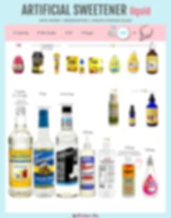 What's the best liquid artificial sweetener?