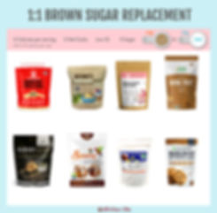 1 to 1 Brown Sugar Replacement