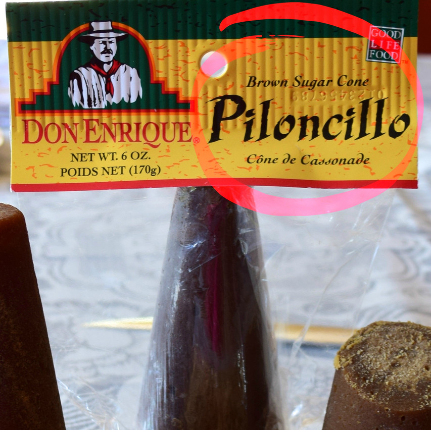 Piloncillo is a traditional brown sugar produced directly from the cane juice in sugars mills in Mexico. Historically, sugars crystals are separated from the molasses by using upright conical pots, and over a period of days, the molasses drains through a hole at the base of the cone, leaving sugar cones.  The disadvantage of the sugar in cone is that they are not so easy to use and dissolve.