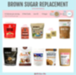 Brown Sugar Replacement with Erythritol