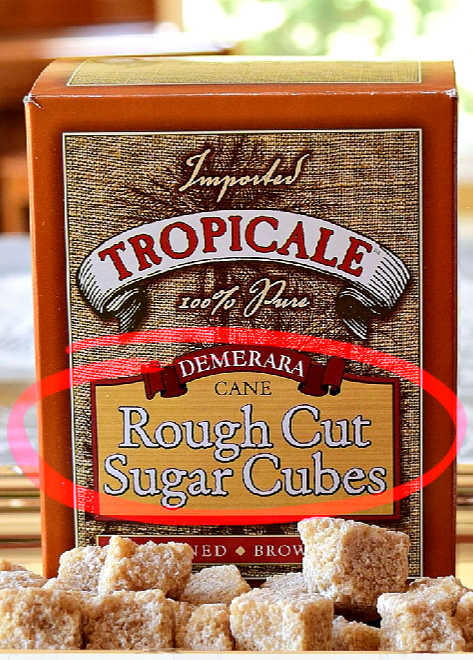 Rough cut brown sugar cubes are produced from a raw sugar that is moist with water and then compressed or molded. Contain over 95 percent sucrose.