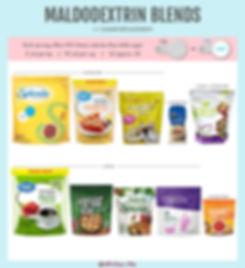 Maltodextrin Blends | 1:1 Sugar Replacem