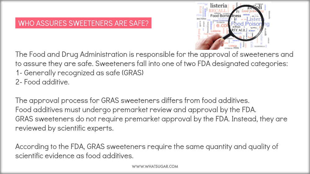 How safe are natural sweeteners | Who assures the safety of low-calorie sweeteners