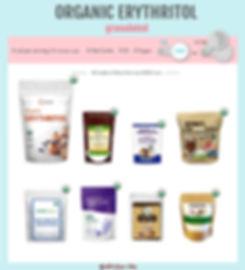 Organic Erythritol Keto List