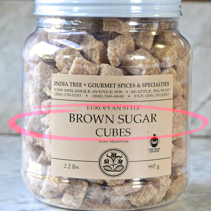 Brown sugar cubes are produced from a raw sugar that is moist with water and then compressed or molded. Contain over 95 percent sucrose.