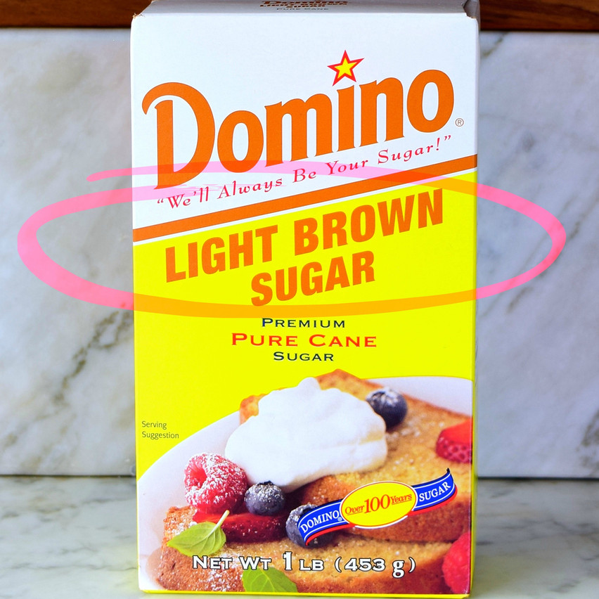 Light Brown Sugar vs Dark Brown Sugar | The brown sugars we most often find in grocery stores are not naturally brown, they are refined sugars from cane or beet. Light or golden brown sugar contains from 2 to 3 percent cane molasses and consequently has mild molasses flavor & lighter brown color. Has 93-98 percent sugars being mainly sucrose with 1.5-5 percent invert sugar (glucose plus fructose).