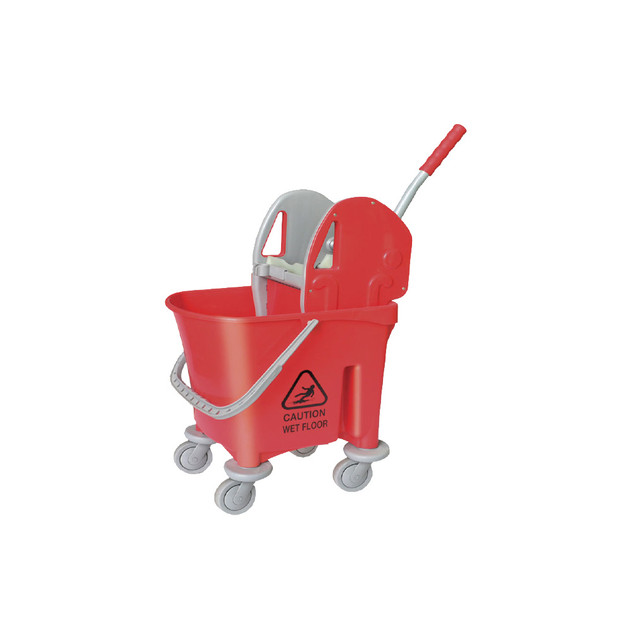 AZ1032 Red Italy Single Mop Bucket - 22L (Down Press)