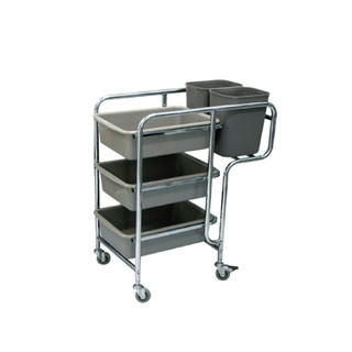 Restaurant Cart c/w Buckets