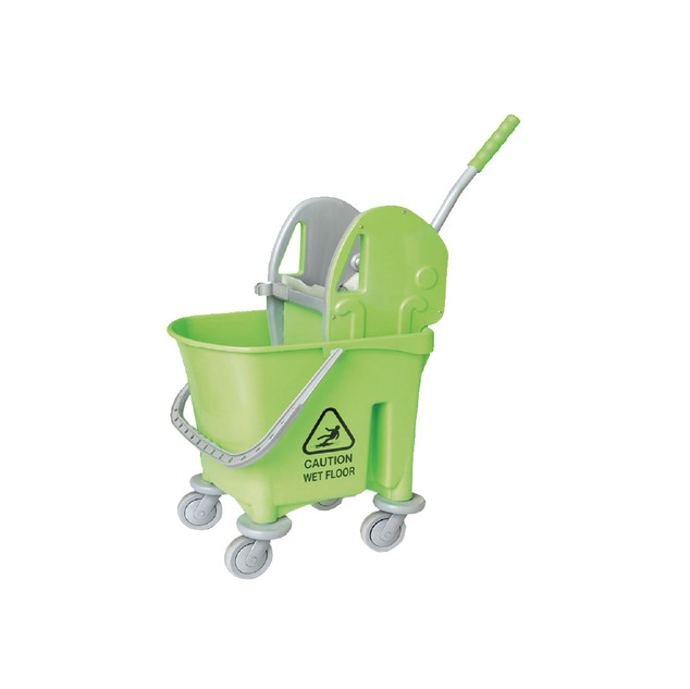 AZ1032 Green Italy Single Mop Bucket - 22L (Down Press)