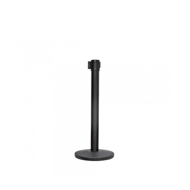 QPT-102/B     Q-up Stand - Black                                                                                                                                                                                                                                                                                                                                Black Powder Coated Retractable Belt Q-Up Stand