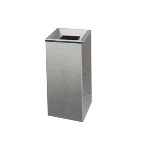 Stainless Steel Open Top Square Litter Bin