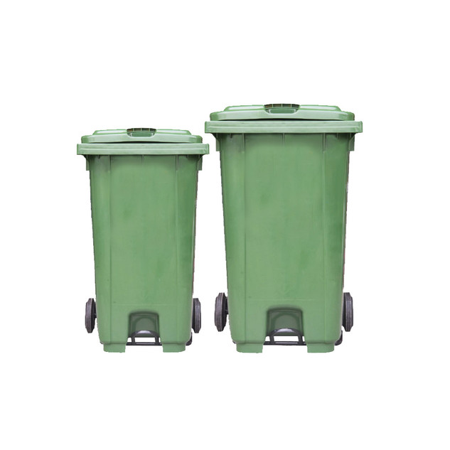 Mobile Garbage Bin With Foot Pedal