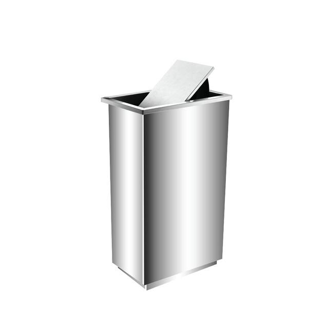 Stainless Steel Rectangular Bin c/w Flip Top (SS 102)