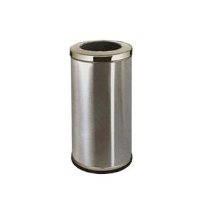 Stainless Steel Round Waste Bin c/w Open Top