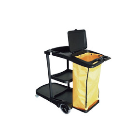 JC-1200 Black Body Janitor Cart c/w Cover