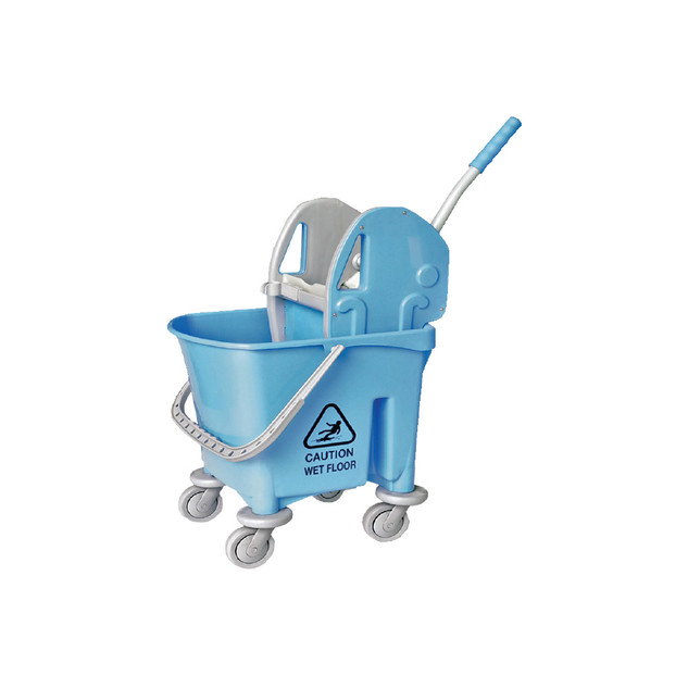 AZ1032 Blue Italy Single Mop Bucket - 22L (Down Press)