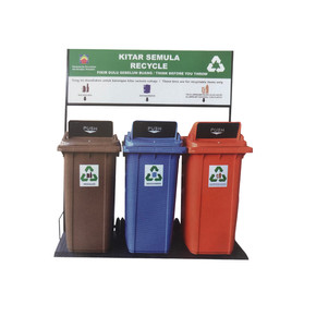 Recycling Bins RB120 & RB 240 With Turbo Cover.