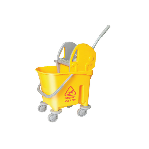 AZ1032 Yellow Italy Single Mop Bucket - 22L (Down Press)