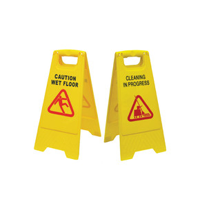 Yellow -A- Floor Signage