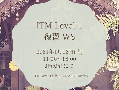 1/12 ITM Level1復習 WS 開催します!