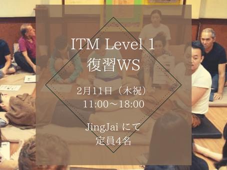 2/11 ITM Level1復習 WS 開催します