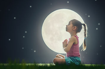 cute little child girl enjoying meditati