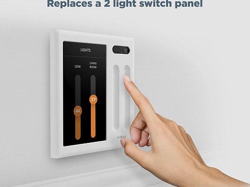 Brilliant Smart Home Control (2-Switch Panel)