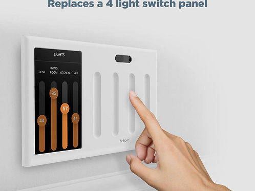 Brilliant Smart Home Control (4-Switch Panel)