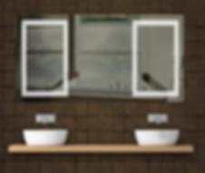UniLED LED bathroom mirrors at the Tauranga Home Show
