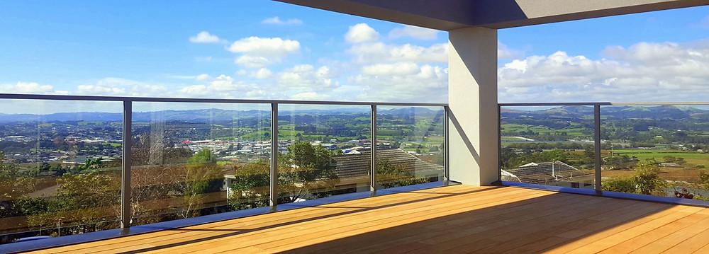 Provista semi frameless glass balustrades